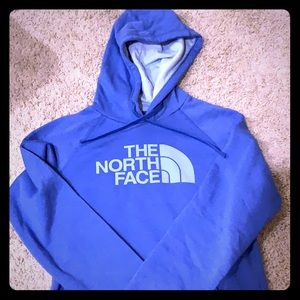 North face size small hoodie with fleece inside